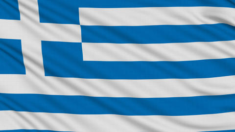 Greek flag, with real structure of a fabric Animation