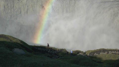 detifoss waterfall in iceland closeup Footage