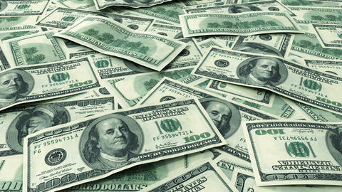 Dollars on the table. Looped animation. HD 1080 Stock Video Footage