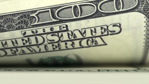 Counting money. 100 dollars bills. Looped. DOF. HD Stock Video Footage