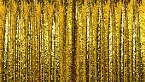 Curtain opening gold. HD 1080 Animation