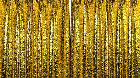 Curtain opening gold. HD 1080 Stock Video Footage