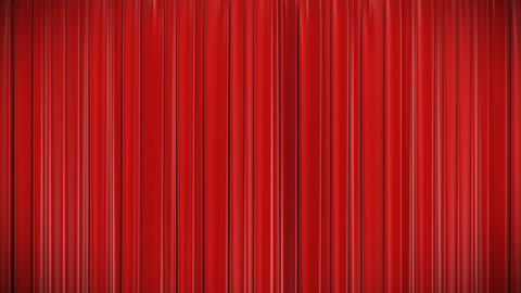 Red Curtain, Opening And Closing 3d Animation, HD stock footage