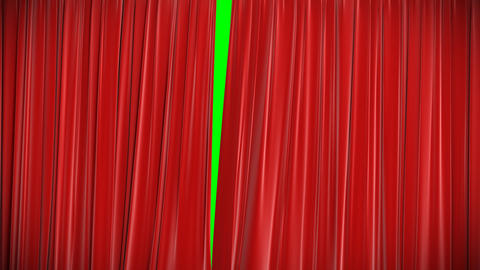 Red curtain, Opening and closing 3d animation, HD Stock Video Footage