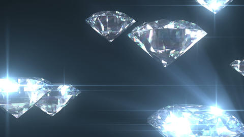 Beautiful Diamonds flying with Matte in Looped ani Stock Video Footage