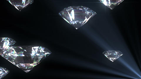 Beautiful Diamonds flying with Matte in Looped ani Animation