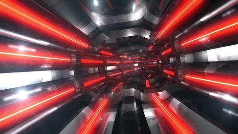 Tunnel tube SF A 01q 2 HD Stock Video Footage