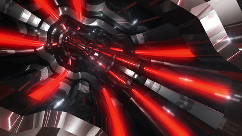 Tunnel tube SF A 01q 2 HD Animation