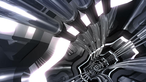 Tunnel tube SF A 02v HD Animation