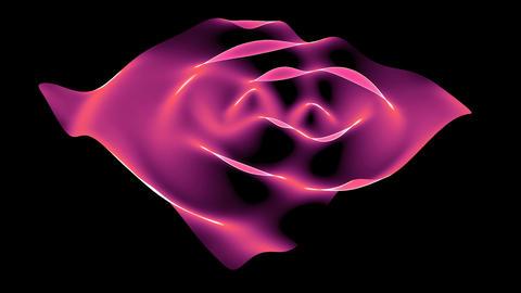 Abstract pink light curve,satin ribbon & soft silk veils,flowing digital wav Animation