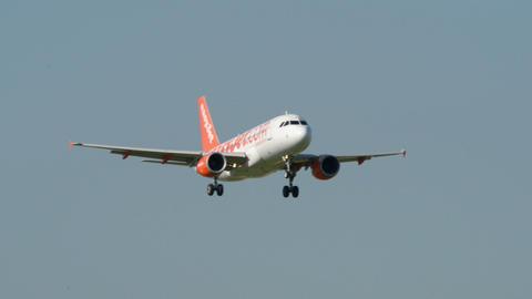Easy Jet airplane landing11049 Stock Video Footage