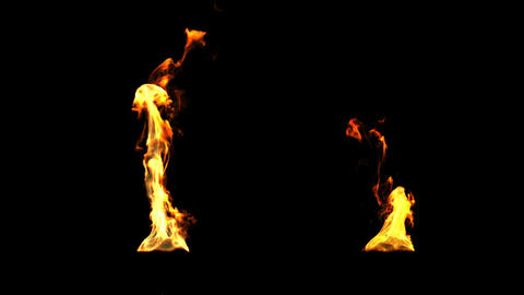 Fire in HD for torches and fire effects such as ti Stock Video Footage