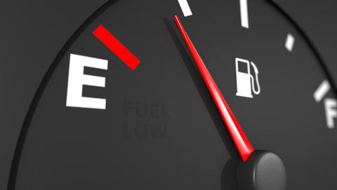 Fuel gage close-up. HD 1080 Animation