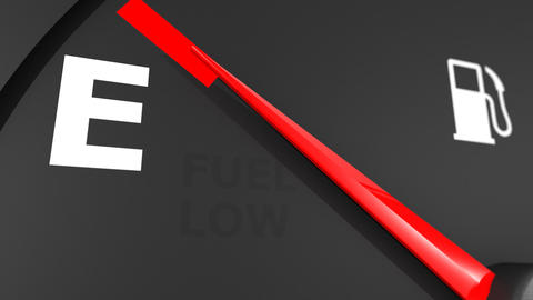 Fuel gage close-up. HD 1080 Stock Video Footage