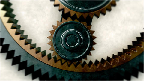 Gears Close-up. Looped. HD 1080 Stock Video Footage