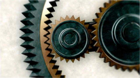 Gears Close-up. Looped. HD 1080 Animation