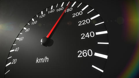Car speedometer and moving pointer on it. HD Animation