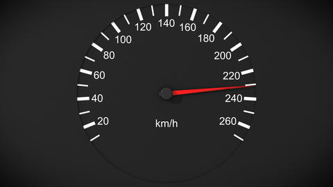 Car speedometer. Front view. HD 1080. Loopable Animation