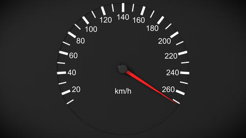Car speedometer. Front view. HD 1080. Loopable Stock Video Footage