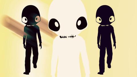 Humanoid with alien head 2 Stock Video Footage