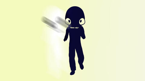 Humanoid with alien head 4 Animation
