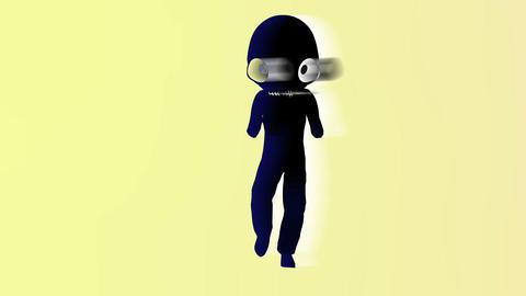 Humanoid with alien head 4 Stock Video Footage
