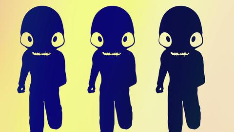 Humanoid with alien head 8 Stock Video Footage
