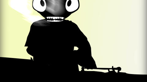 Humanoid with alien head 14 Stock Video Footage