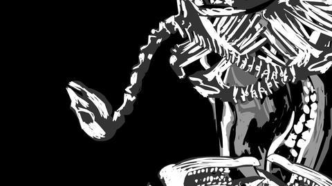 Skeletons 02 Stock Video Footage