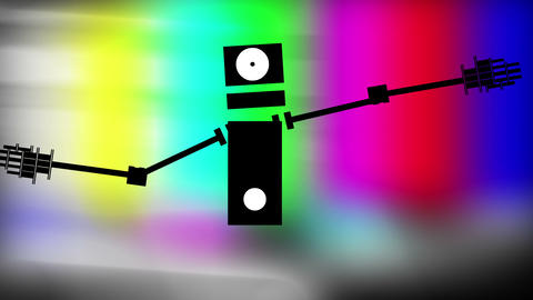 Robot dancer Stock Video Footage