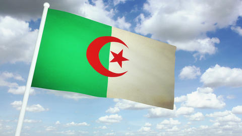 Flag Algeria 02 Animation