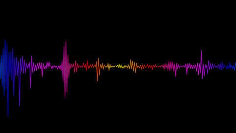 audio spectrum with alpha Stock Video Footage
