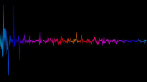 audio spectrum with alpha Stock Video Footage