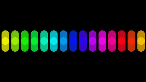 color wave with alpha Stock Video Footage