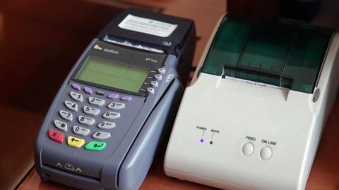 Credit Card Terminal Footage