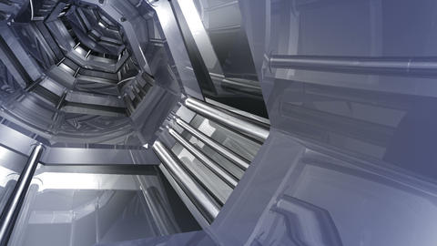 Tunnel tube SF B 04aa HD Stock Video Footage