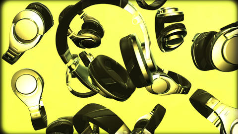 Headphone Stock Video Footage