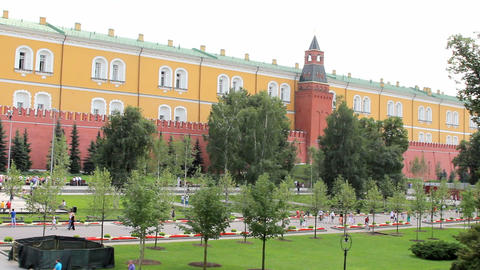 Alexander Gardens at Kremlin Wall Footage