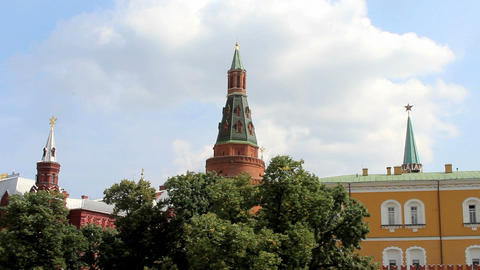 Corner Arsenalnaya Tower of Kremlin Footage