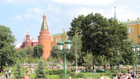 Corner Arsenalnaya Tower of Kremlin Footage