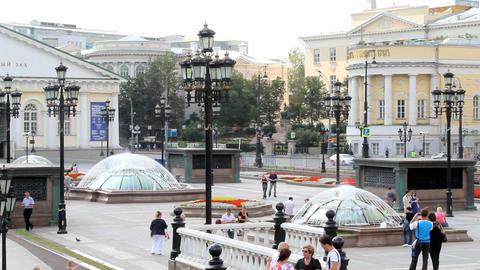 Manezhnaya Square near Moscow Kremlin Footage