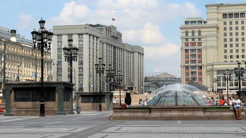 Manezhnaya Square near Moscow Kremlin Stock Video Footage