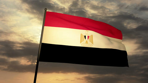 Flag Egypt 03 Animation