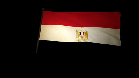 Flag Egypt 01 Animation