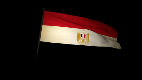 Flag Egypt 01 Stock Video Footage