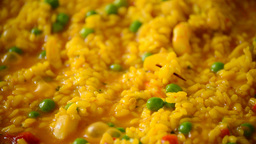 Paella rice cooking 2 Footage