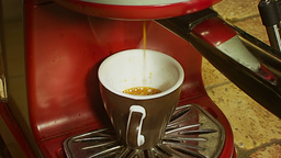 Coffee cup pouring from machine 1 Footage