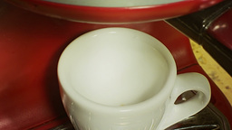 Coffee cup pouring from machine 2 Stock Video Footage
