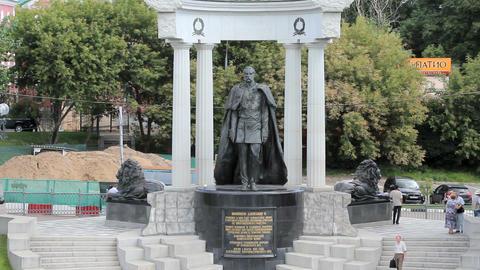 Emperor Alexander II Monument Stock Video Footage