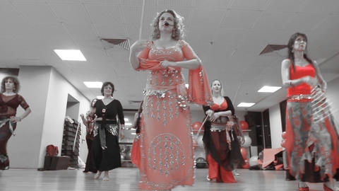 Dance Belly Belly-dance Dancer Dancing Performance Stock Video Footage
